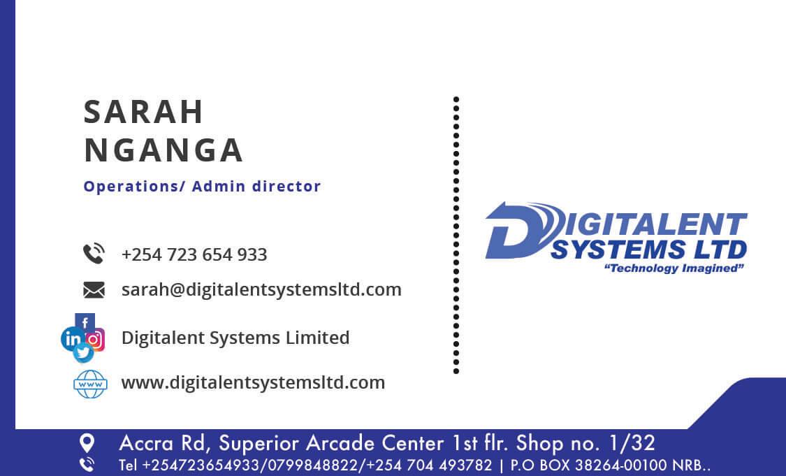 digitalent systems bs card sarah