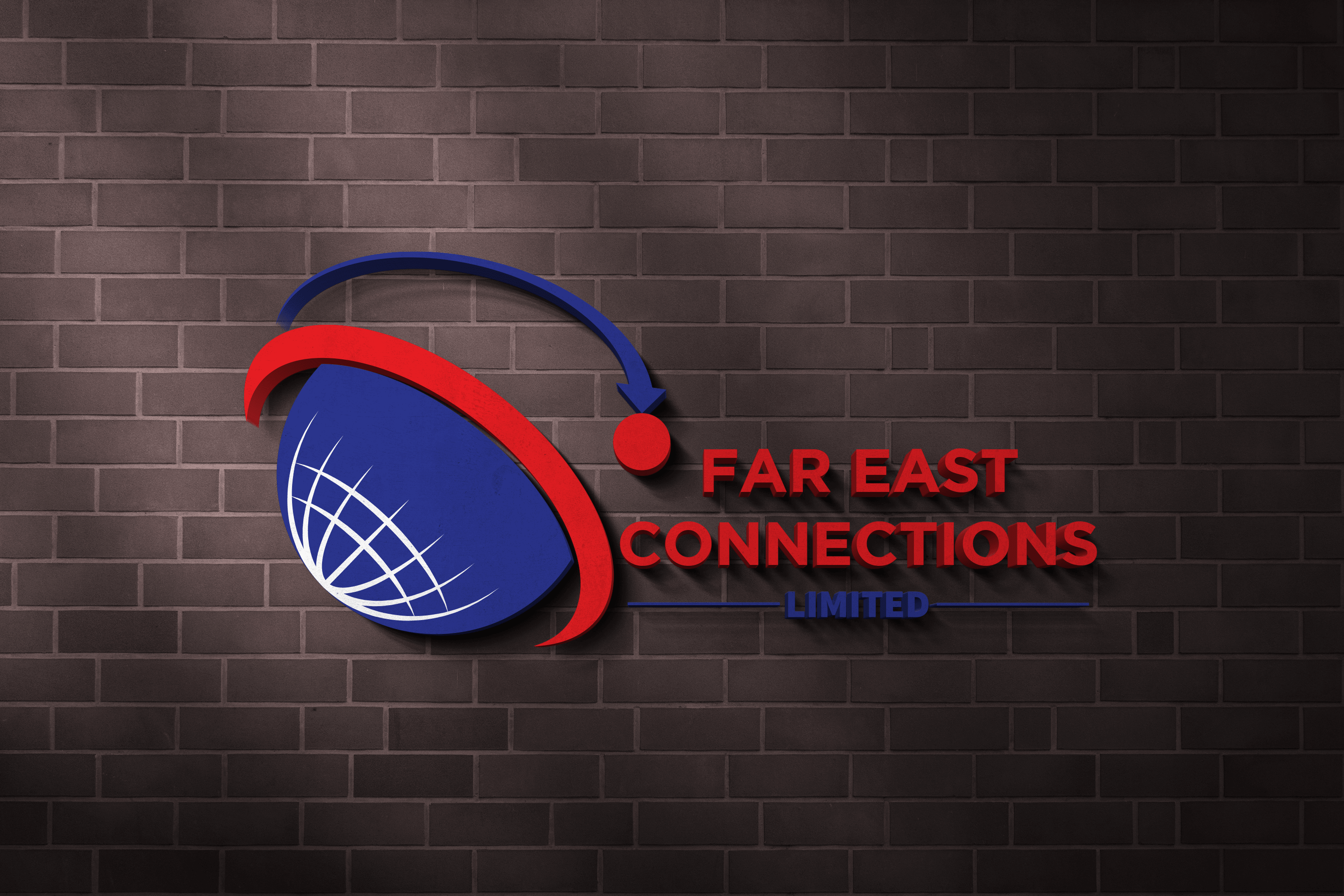 Far East 3D Logo and Sign Mockup-min